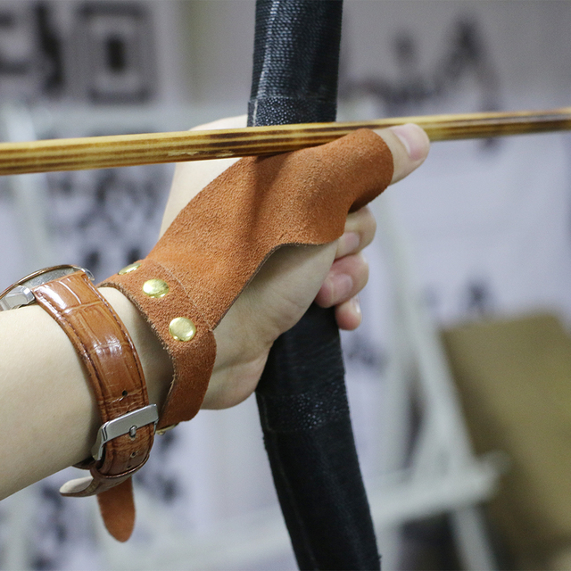 Unicorn Archery Suede Leather Hand Protector Glove Outdoor Hunting Shooting Bow Arrows Accessories Brown Protection Left Hand