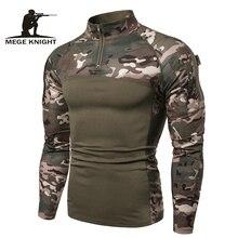 Mege Camouflage tactique militaire vêtements Combat chemise assaut Multicam ACU à manches longues armée serré t shirt armée USMC Costume