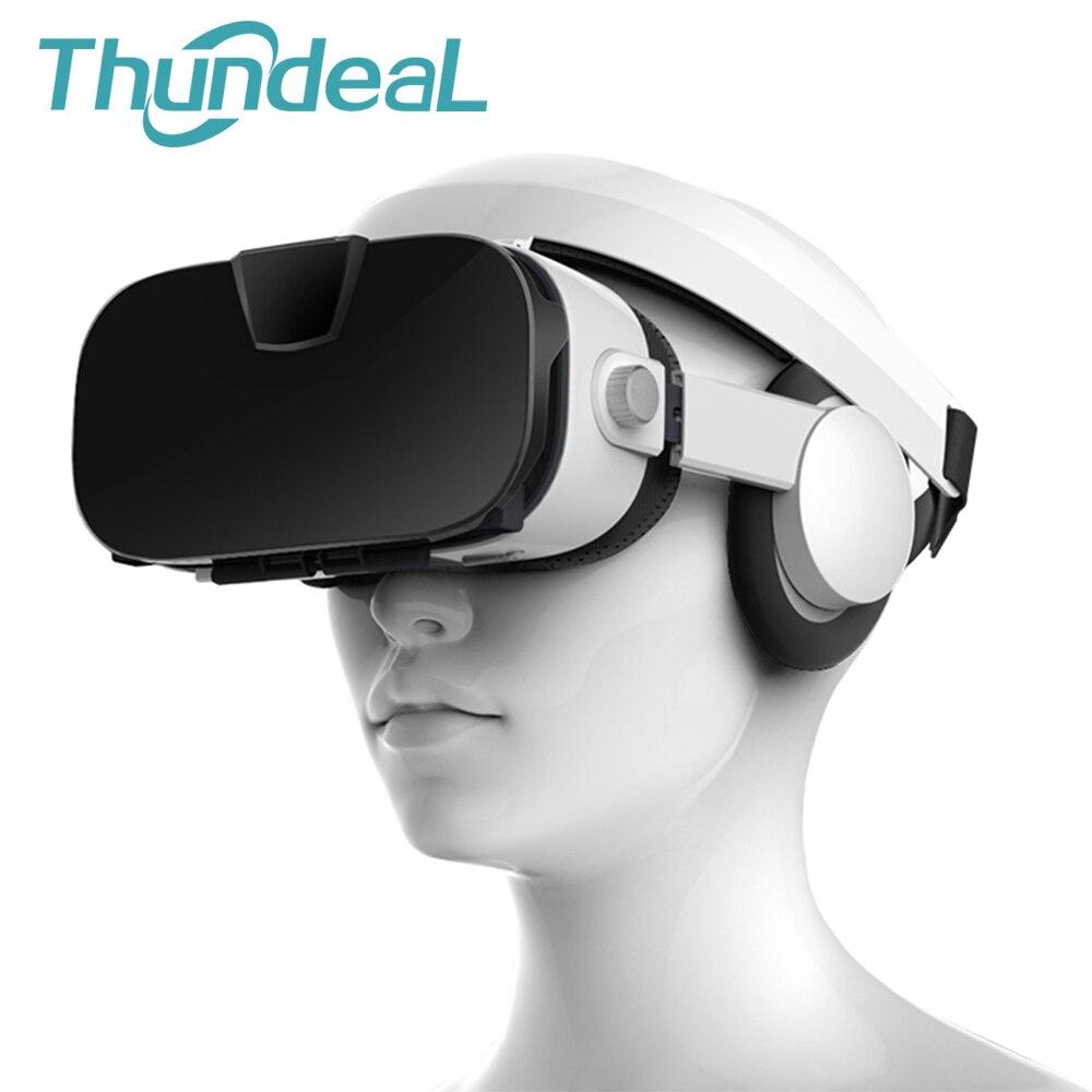 Fiit VR 3F 112 FOV 3D VR Lunettes de Réalité Virtuelle Casque Stéréo Casque Carton Immersive 3D VR BOÎTE pour Smartphone carton
