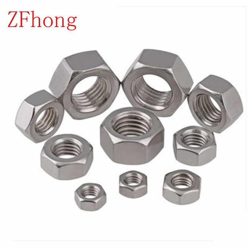 唐铭鲆544162 25pcs Steel Nut M2.5 M3 M4 M5 M6 M8 M10 M12 M14 M16 304 A2-70 Stainless Steel Flat Hex Hexagon Thin Nut Jam Nut DIN439 GB6172 Nuts Size : M14 2pcs Bolt