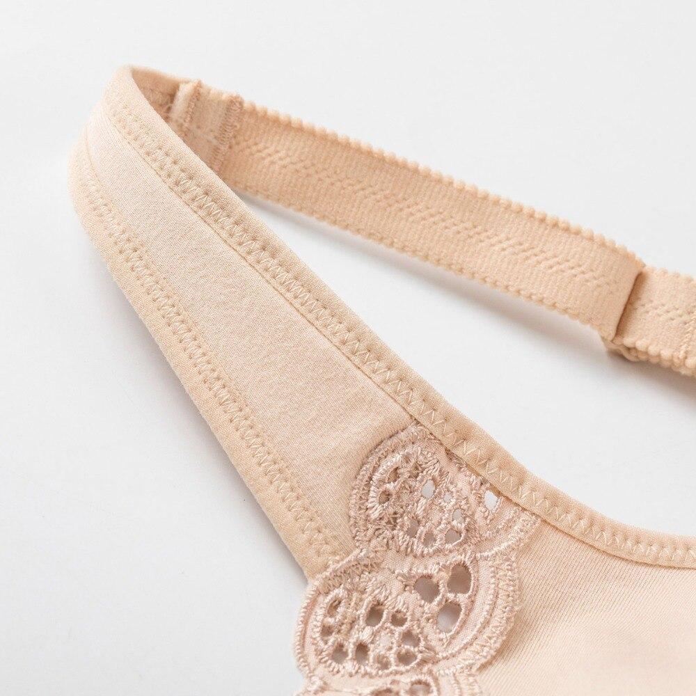 Women's Full Coverage Lace Plus Size Wireless Non Padded Cotton Bra 34-48 B C D DD E F G H I J