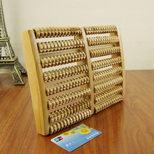 New 8 rows of Wood Roller Foot Massager Stress Relief Heath Therapy Relax Massage for Stress Fitness Health Gift Wood Crafts