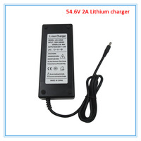 54.6V 2A great quality Li ion Battery charger DC port 48V 2A charger for 48V 13S Lithium 10AH 15AH 20AH electric bike battery