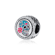 цены Beads for Jewelry Making Charms Silver 925 Original for Women DIY Bracelets Day of the Dead Charm 925 Sterling Silver Kralen