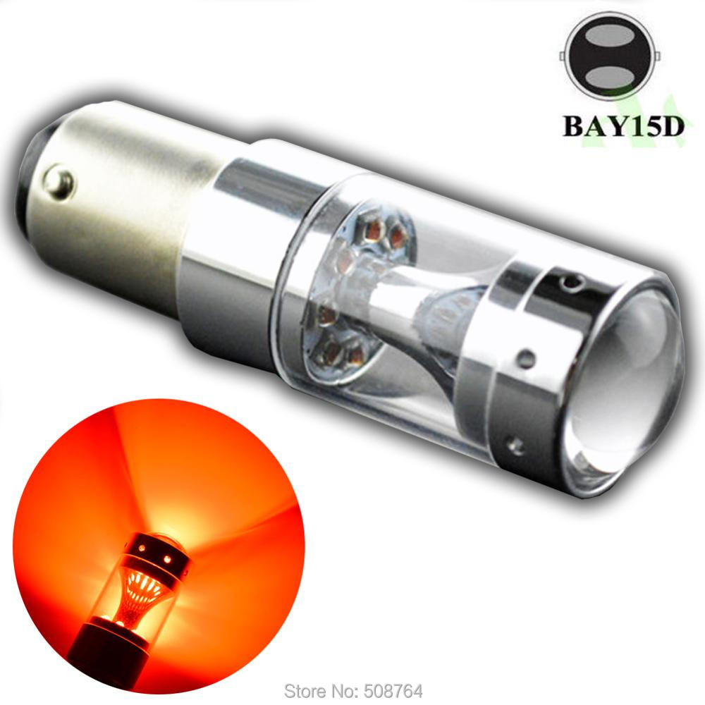 1pc x 60W 1157 12SMD XBD chips BAY15D BA15D 12V 24V High Power lamp 21/5w led car bulbs White Red Amber