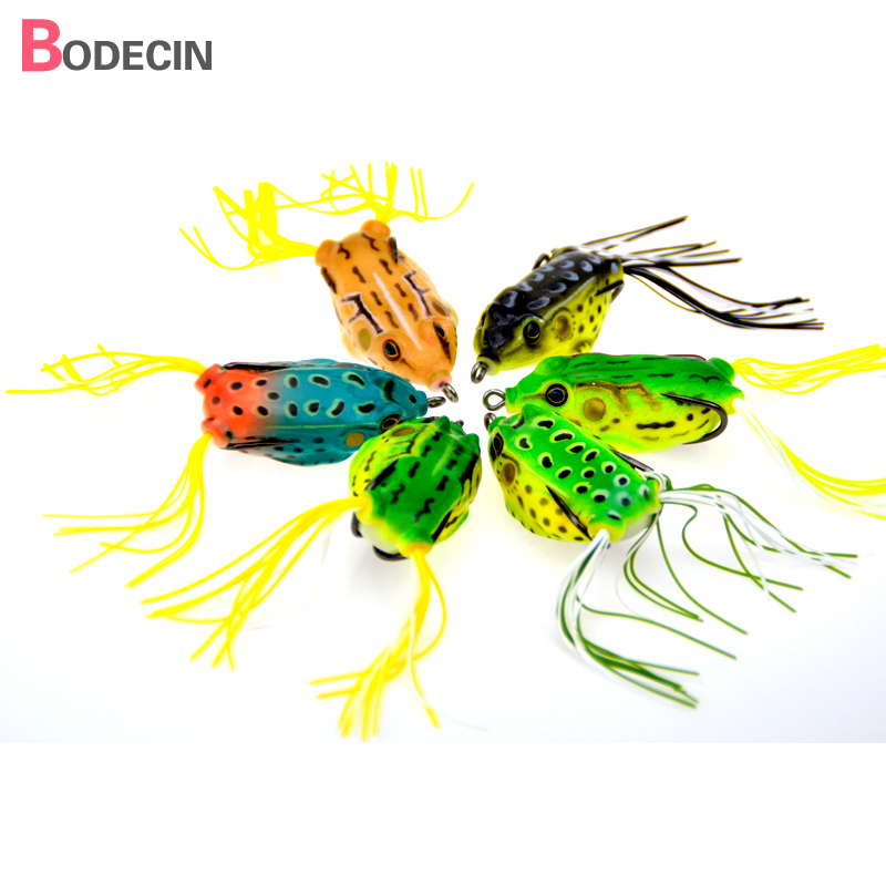 6PC Soft Plastic Tube Lures Japan Treble Hooks China Lure Artificial Bait For Fishing 6cm 14G Frog Tackle Swim Baits Topwater