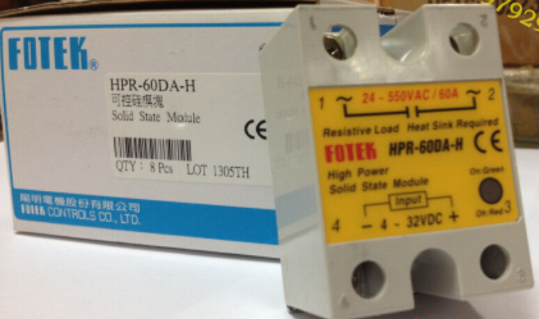 100% Original Authentic Taiwan's Yangming FOTEK solid state relay / thyristor modules HPR-60DA-H brand new original japan niec pd150s8 indah 150a 800v thyristor modules