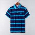 Мужчины Продвижение Специальное Предложение Короткие 2016 Лето Мужские Camisas Де Polo Marcas Lujo Манга Corta Ropa Hombre Homme Полосатый Моды