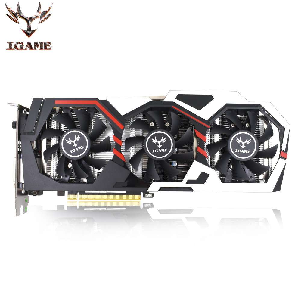 Colorful NVIDIA GeForce iGame GTX 1070 GPU 8GB TOP GDDR5 256bit PCI-EX16 3.0 X16 Gaming Video DVI+HDMI+3DP 3 Fans Graphics Card цена
