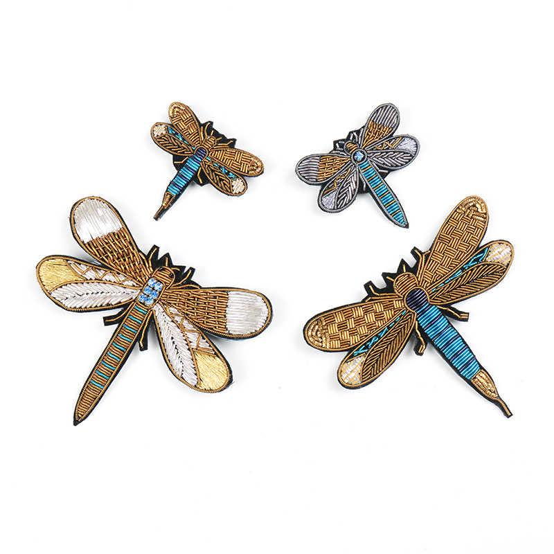 3D Броши с вышивкой в виде стрекозы, интересные броши для пальто, рубашки, шляпы, сумки, орнамент, Брош, 1 заказ = 1 шт.