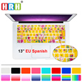 HRH Spanish Flower Decal Silicone Keyboard Cover Keypad Skin Protective Film for Mac Book Air Pro Retina 13 15 17 Before 2016