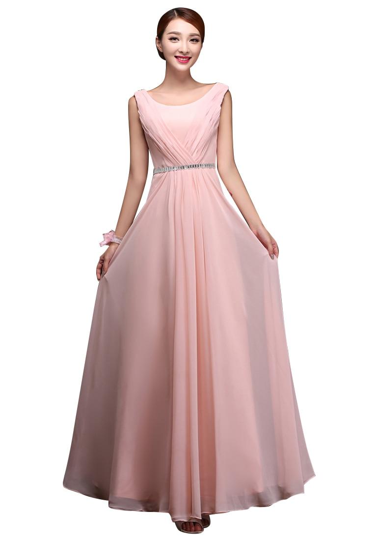 Hermosa La Dama De Honor Vestido De Color Rosa Bosquejo - Colección ...