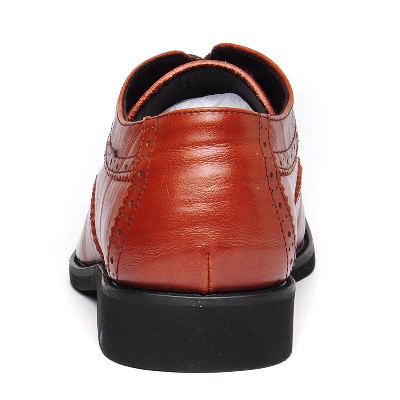 Negócios Qualidade Luxo Genuínos brown Sapatos Homens Alta Vestem Couro Clássicos Black Cavalheiro Reetene Se De Fq0vqU
