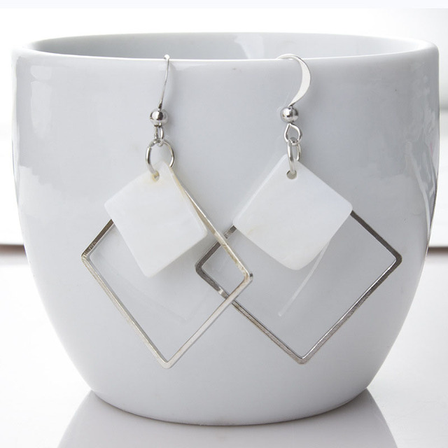 Top Fashion Hollow Square Earrings For Women