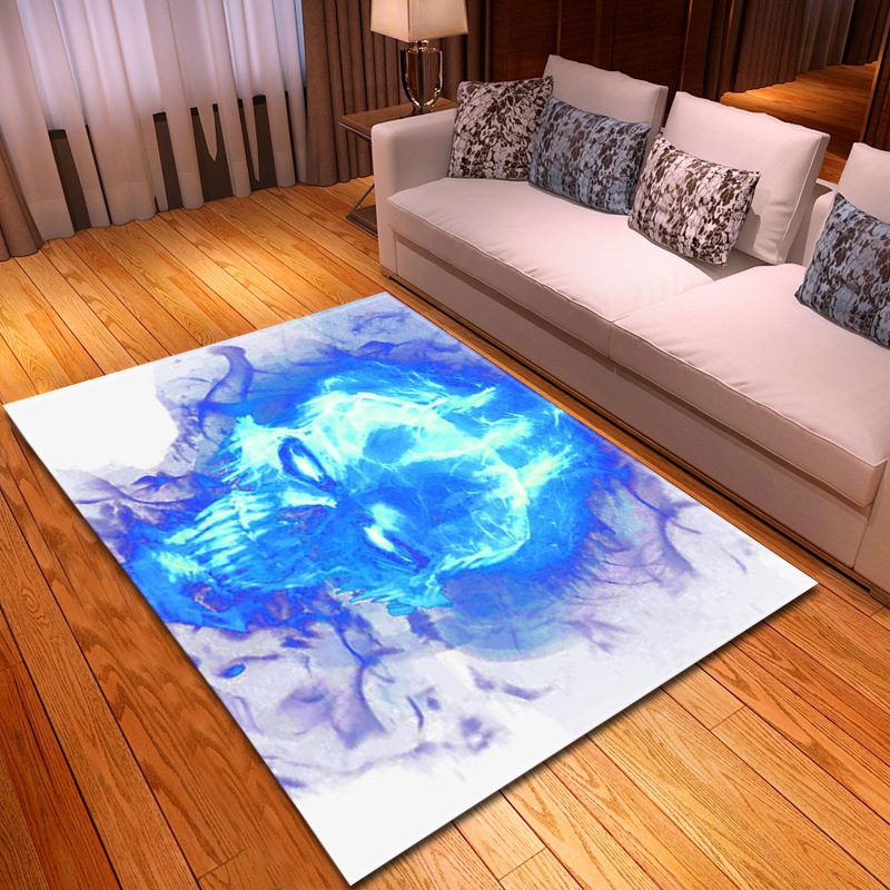 2019 New Creative Skull Printed Delicate Carpet Europe style Home Soft Carpets For Living Room Bedroom Area Rug Parlor Floor Mat2019 New Creative Skull Printed Delicate Carpet Europe style Home Soft Carpets For Living Room Bedroom Area Rug Parlor Floor Mat