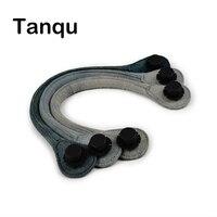 TANQU Short Long Round Denim Canvas Fabric Handle For Obag Classic Mini O Bag Women S