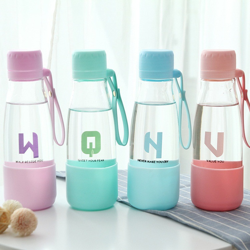 Creative Travel Outdoor Water Bottles Portable Dog Cat: Creative Fashion Glass Portable Student Readily Outdoor