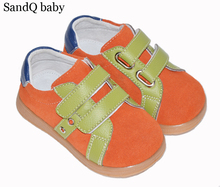 Buy 2017 new boys shoes suede orange for spring autumn kids flat chaussure zapato children shoes SQ green light good fit matchable directly from merchant!