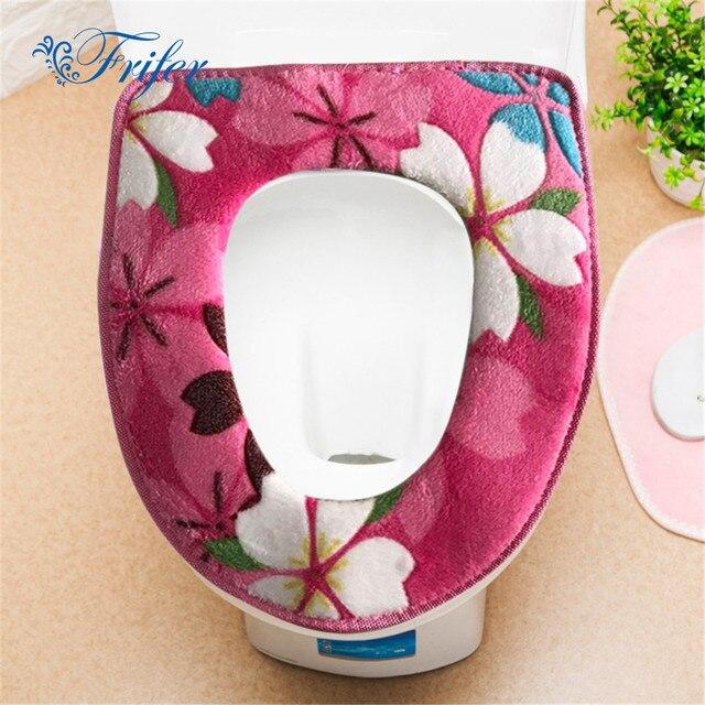 1 Pz/set Bagno Fiore di Stampa del Panno Morbido Warmer Igienici Set Cerniera Va