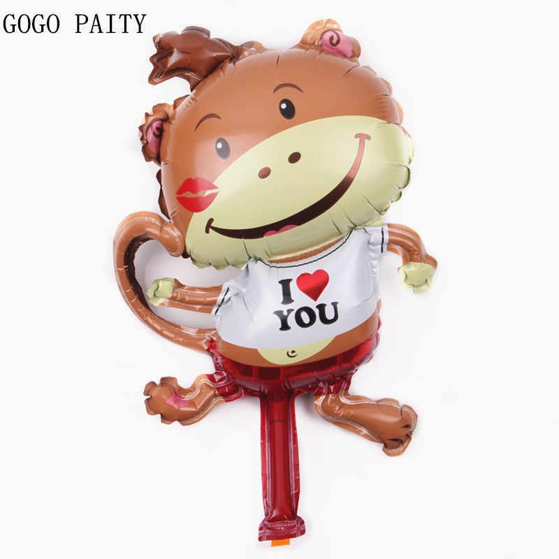 GOGO PAITY 1 pcs mini eu te amo balões balões de festa decorado alumínio macaco brinquedos das crianças por atacado