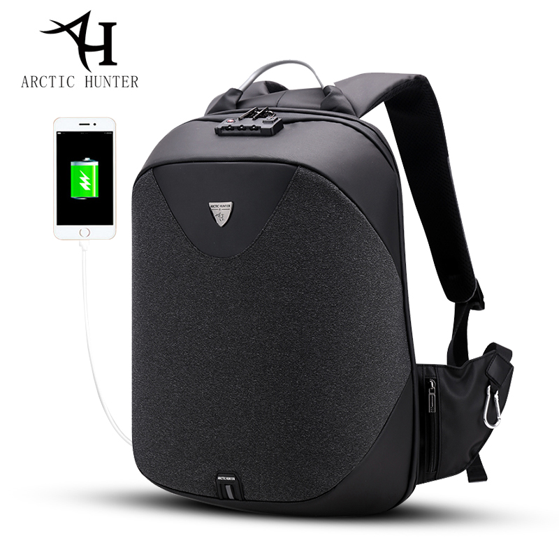 ARCTIC HUNTER School 15.6 Laptop backpack men Waterproof Mochila Casual Travel Business USB Back pack Male Bags Anti-theft Gift arctic hunter design backpacks men 15 6inch laptop anti theft backpack waterproof bag casual business travel school back pack
