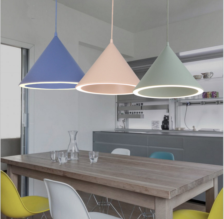 Nordic Pendant Lights For Home Lighting Modern Hanging Lamp Iron Lampshade LED Bulb Bedroom Coffee Kitchen Light 90-260V E27 smart bulb e27 7w led bulb energy saving lamp color changeable smart bulb led lighting for iphone android home bedroom lighitng