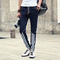 2017 new fashion skinny jeans Autumn and winter men jeans pants feet Slim male line long denim pants with elastic cuffs trousers