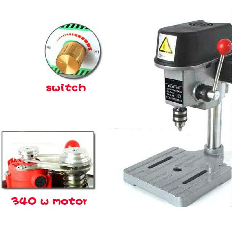GB-5158B Mini multi-function electric drilling Micro bench drilling Household drilling machine 340 W 220 V 0.6mm-6.5mm cukyi multi function household electric grills