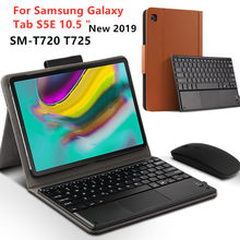 """حقيبة لهاتف سامسونج غالاكسي تبويب S5E SM T720 T725 10.5 بلوتوث لوحة المفاتيح الغطاء الواقي بو الجلود لتبويب S5E 10.5 """"اللوحي حالة"""