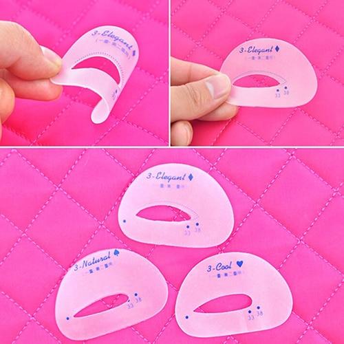 New 6 Pcs Eyebrow Stencil Eyeshadow Model Card Auxiliary Draw Eye Shadow Makeup Tool High Quality 1