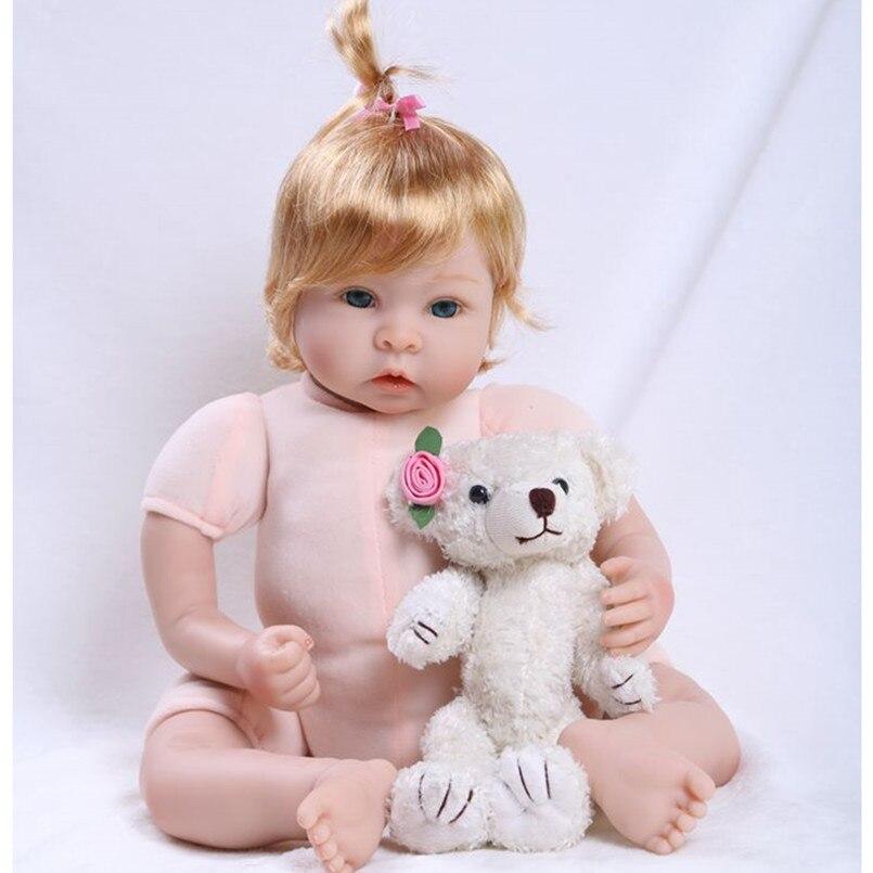 20 Vinyl Silicone-Reborn-Babies Boneca Girl Toy Gift,New Style Lifelike Baby Reborn-Dolls Newborn Toys for Girls Children 18inch sd bjd vinyl baby reborn dolls toy 45 cm lifelike newborn girl babies toys for children super princess doll birthday gift