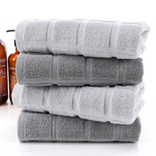 Grey Geometric Towels Cotton Thick Face Towel Home Spa Swimming Beach for Adults Kids Yoga Sport Toalha Serviette Toalla facial