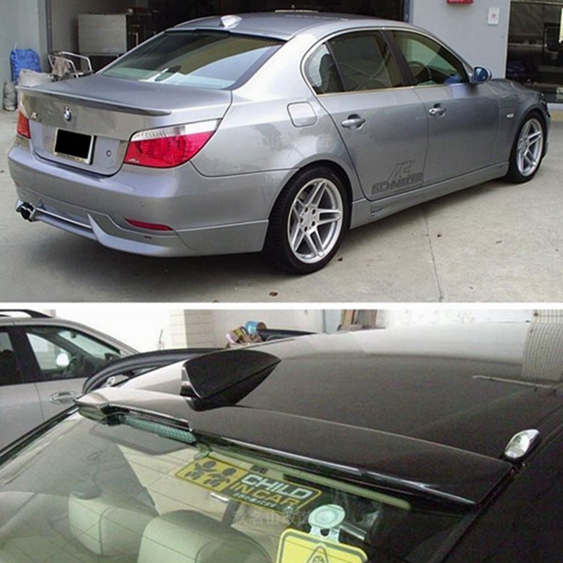 E60 AC Style ABS Plastic Unpainted Primer Car-styling Rear Roof Spoiler for BMW E60 5 Series 2004 2005 2006 2007 2008 2009 pair car front headlamp clear lens headlight plastic shell clear cover for bmw e90 e91 2004 2005 2006 2007