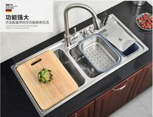 Free shipping kitchen wash basin with a knife knife, 304 stainless steel Kitchen Sinks