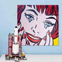 Плакат Лихтенштейн поп Книги по искусству c Книги по искусству Ун, картина маслом на холсте Ручная роспись стены картину для гостиной Andy Warhol
