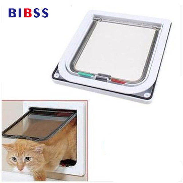 Dog Cat Entry Exist Lockable Pet Door With Telescoping Frame 4 Way