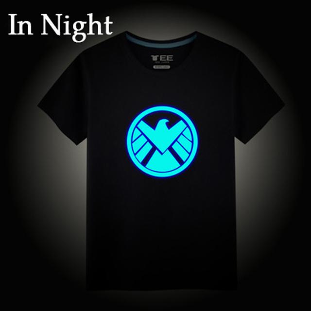 2016 meninos Moda camiseta 100% algodão de verão das crianças das crianças Hip Hop Neon luminosos T-shirt plus size venda quente
