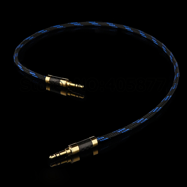 1M 3.5mm 1/8 male plug to 3.5mm male plug Stereo Audio video Cable Record Audio Cable hifi audio cable