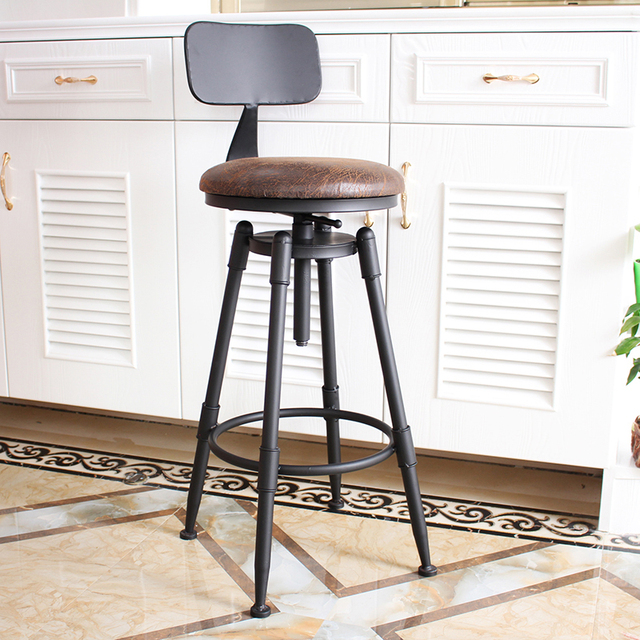 5c026b3a2deb Taburete de Bar, taburete giratorio, silla, taburete de hierro forjado,  taburete de