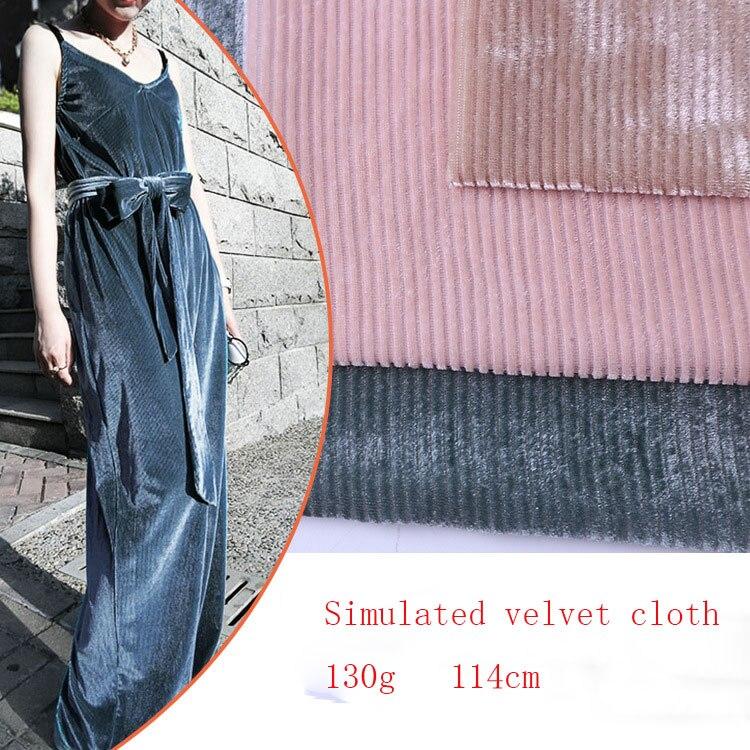 Usine direct 2019 nouveau tissu rayé tissé haute couture nylon velours tissu velours