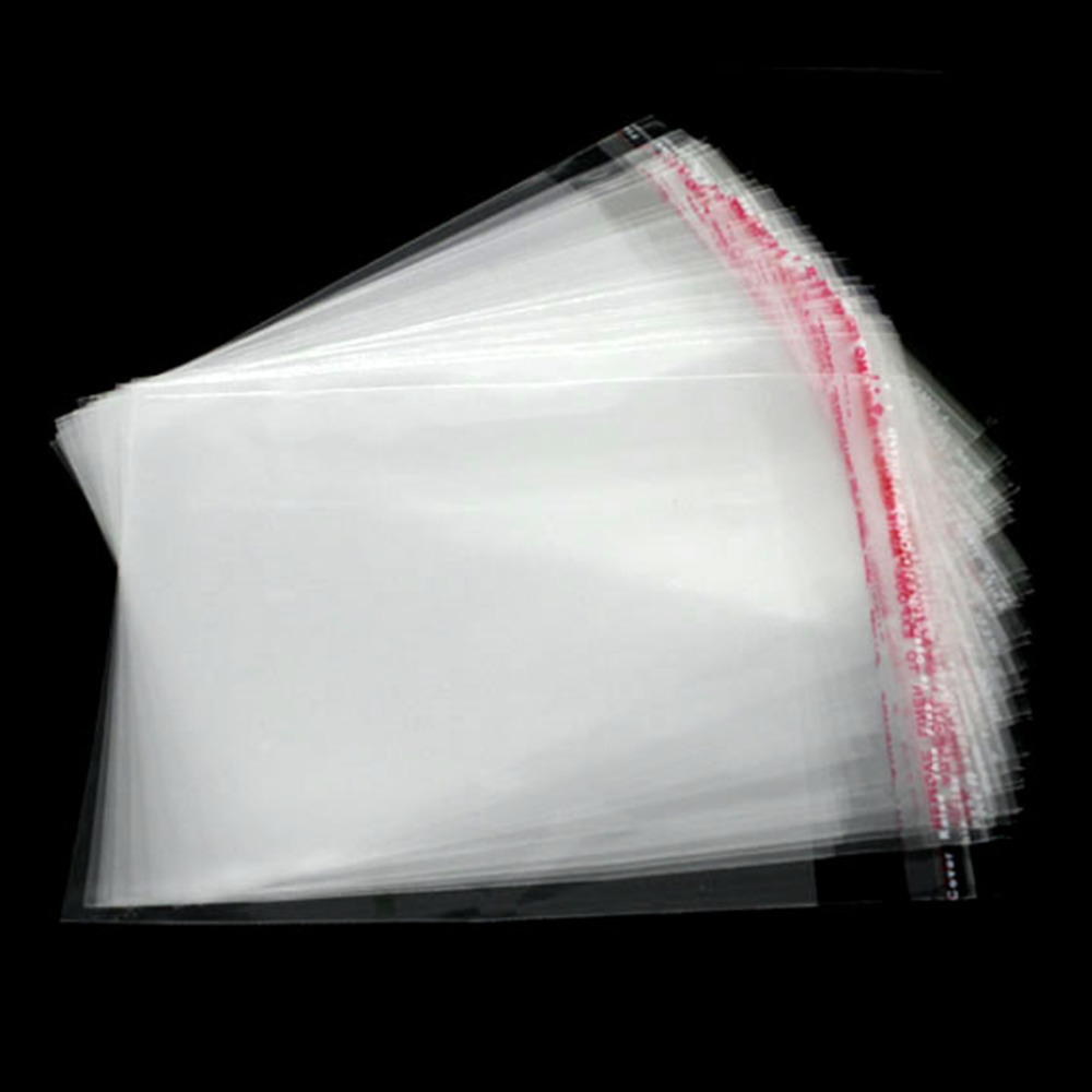 200 Clear hot Adhesive Seal Plastic Bags Usable Space 7x6cm 9x6cm