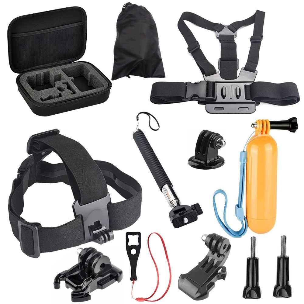 Action Video Cameras Accessory Set For Gopro Hero8 7 5 6 4 3+ 3 H9R F60R W9R Yi 4K SJ4000 SJ6 SJ7 with Head Strap Floating Stick