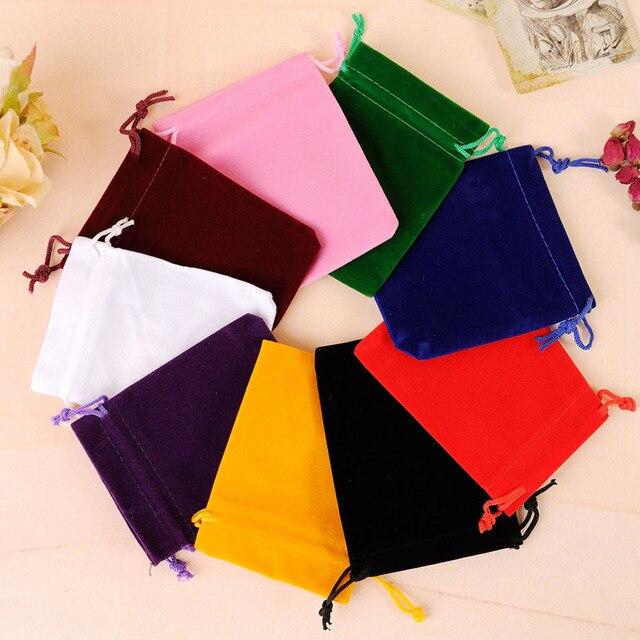 10 Pcs Lot Tarot Cards Storage Bag Flannel Fabric Card Collecting Dice Drawstring
