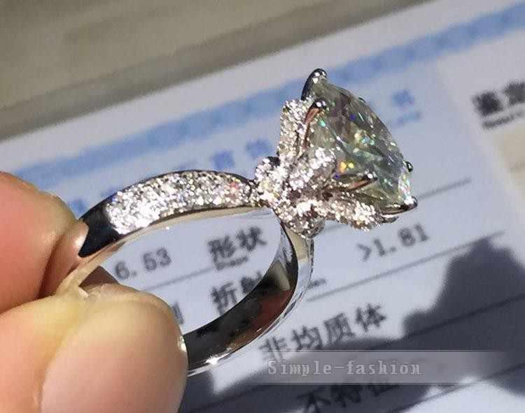 Choucong, роскошное кольцо, 3ct, AAAAA, циркон, cz, натуральная 925 пробы, серебро, Женское Обручальное кольцо, кольцо для женщин, свадебные украшения