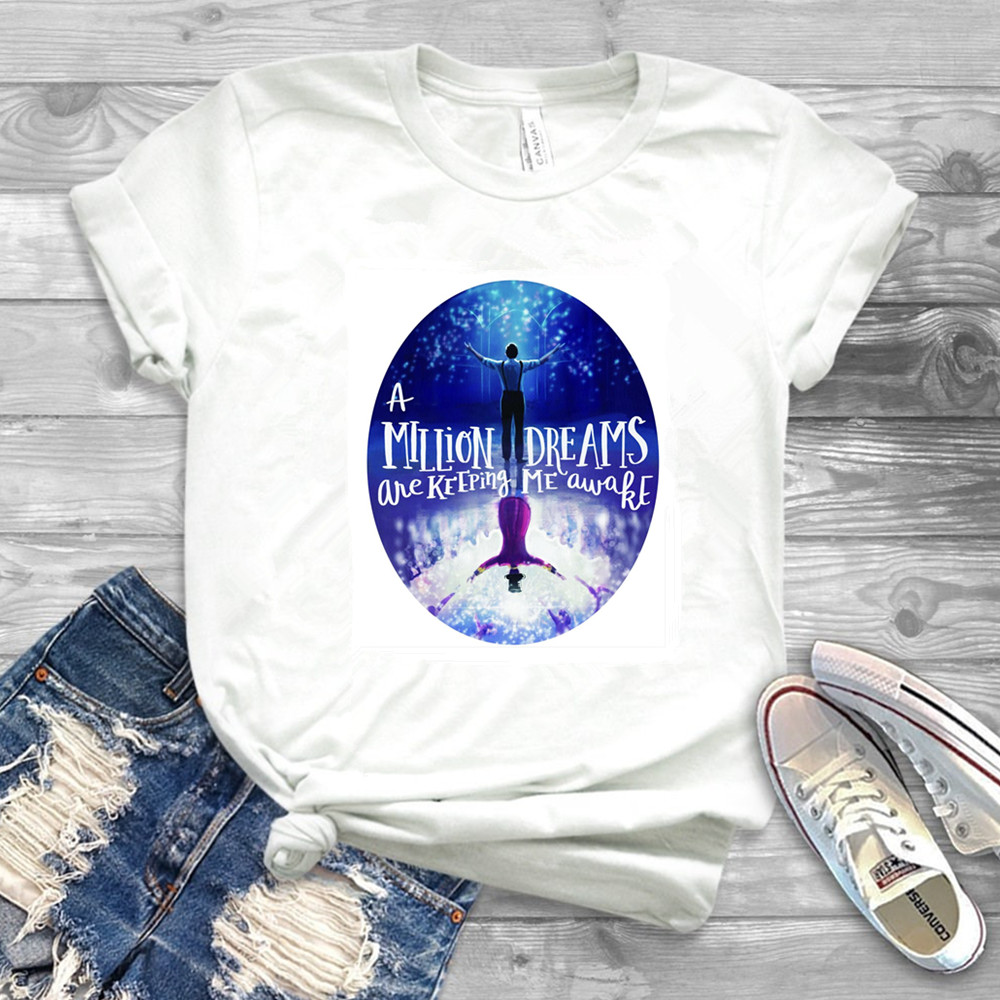 The Greatest Showman T-shirt Movie Inspired Song Lyrics 'A Million Dreams Keeping Me Awake' Circus Unisex T-Shirt image