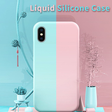 Mikki Original Silicone Case For iPhone 7 8 Plus  Shockproof X XS Max XR Cover 6 6S