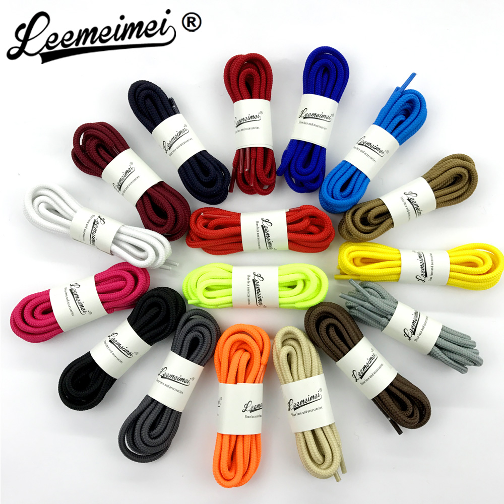 59/150cm Round Rope Shoe Laces Polyester Groove Shoelaces Runner Shoestrings Sport Bootlace Sneakers Boost Lacing