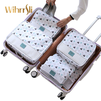 Travel Accessories Bags Six piece Suits Clothing clothes storage Big bag Suitcase case Packaging Organizer Underwear Bag Luggage
