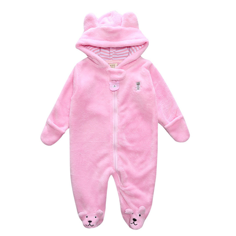 Winter Warm Newborn Baby Girl Boy Autumn Winter Newborn Baby Infant Boy  Girl Bear Hoodie Jumpsuit Romper Sleepwear   Robes T7-in Blanket Sleepers  from ... d1f723df2