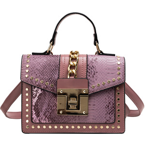 Image 4 - 2020 Design Handbags High Quality Ladies Shoulder Women PU Leather Zip Lock Small Chains  Flap Bags